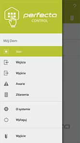 PERFECTA-CONTROL - menu główne