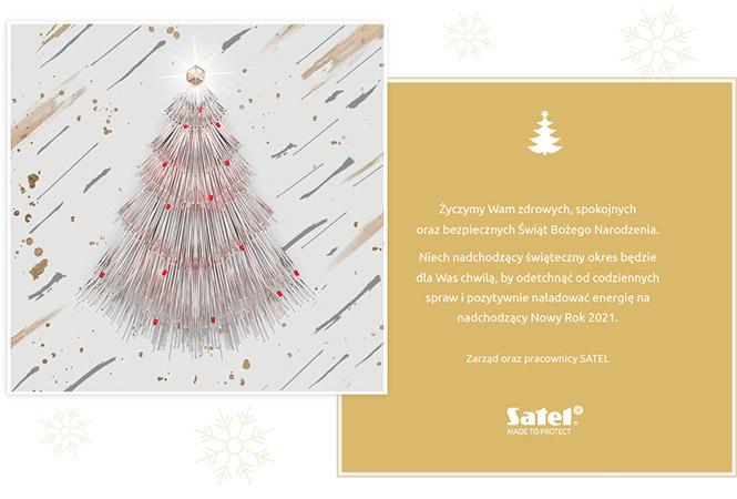 kartka świąteczna SATEL